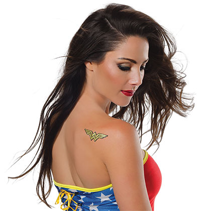 WONDER WOMAN Glitter Tattoo