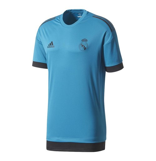 2017-2018 Real Madrid Adidas EU Training Shirt (Vivid Teal)