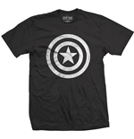 Marvel Comics Men's Tee: Captain America Civil War Basic Shield Distressed