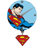 Superman 3D Mini Motion Wall Clock Swinging Logo