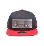 NINTENDO Original NES Controller Embossed Metal Plate Snapback Baseball Cap, One Size, Black/Red