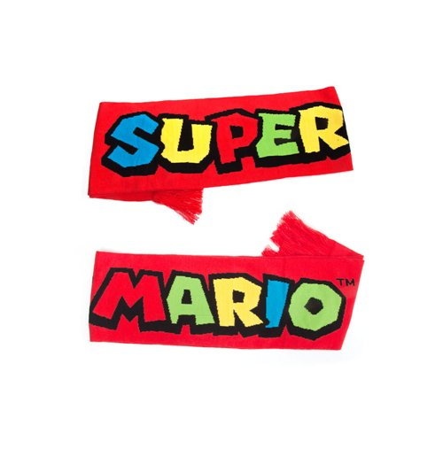 NINTENDO Super Mario Bros. Knitted Scarf, One Size, Red