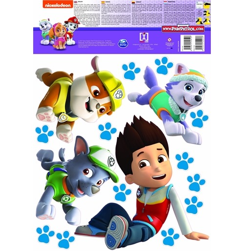 paw patrol wall stickers 274501 for only at. Black Bedroom Furniture Sets. Home Design Ideas