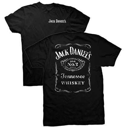 JACK DANIELS Double Sided Black Tee Shirt
