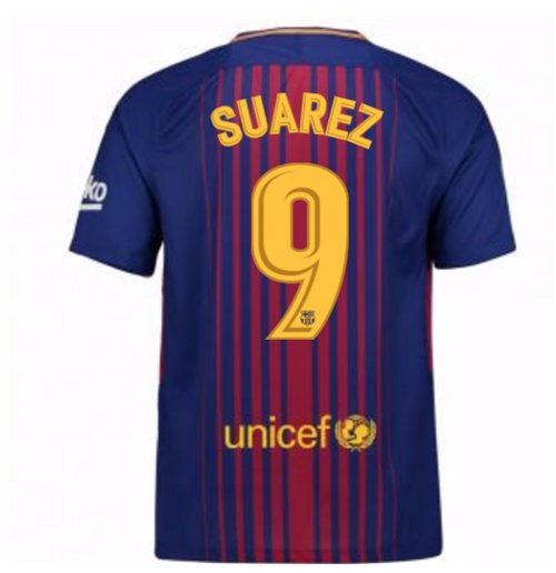 2017-2018 Barcelona Home Shirt (Suarez 9) - Kids