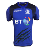 2017-2018 Scotland Macron Rugby Training Jersey (Blue)
