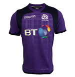 2017-2018 Scotland Macron Rugby Training Jersey (Purple)