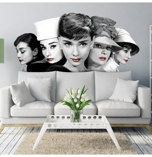 official audrey hepburn wall stickers 274634: buy online on offer