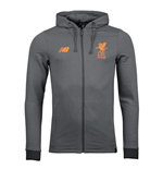 2017-2018 Liverpool Travel Hoody (Gunmetal) - no sponsor