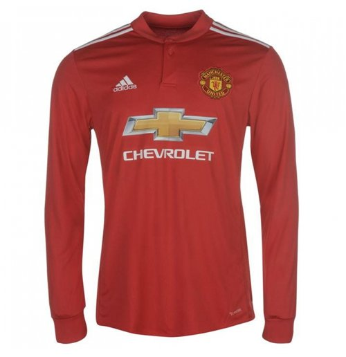 2017-2018 Man Utd Adidas Home Long Sleeve Shirt