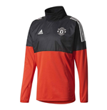 2017-2018 Man Utd Adidas UCL Hybrid Top (Red)