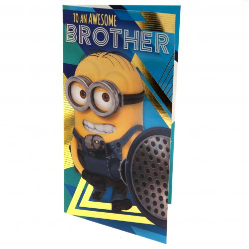 Despicable Me 3 Minion Birthday Card Brother