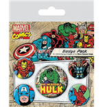 Marvel Retro Badge Set - Hulk
