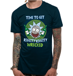 Rick And Morty - Riggity Riggity Wrecked - Unisex T-shirt Blue