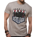 Justice League - Silhouette Shield - Unisex T-shirt Grey