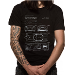 Batman - Batmobile Blueprint - Unisex T-shirt Black