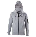 ASSASSIN'S CREED Movie Men's Brotherhood Crest Logo Double Layered Hoodie, Extra Large, Grey