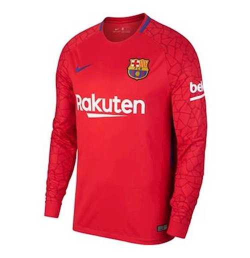 new product fef8f 86376 2017-2018 Barcelona Away Nike Goalkeeper Shirt (Red) - Kids