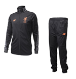 2017-2018 Liverpool Mens Presentation Tracksuit (Black) - no sponsor