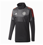 2017-2018 Man Utd Adidas UCL Hybrid Top (Black)