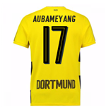 2017-18 Borussia Dortmund Home Short Sleeve Shirt (Kids) (Aubameyang 17)