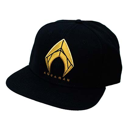 AQUAMAN Embroidered Logo Snapback Hat