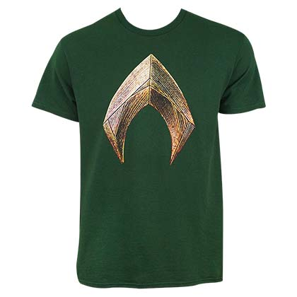 Justice League AQUAMAN Green Tee Shirt