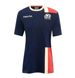 2016-2017 Scotland Macron Travel Cotton T-Shirt (Navy)