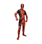 MARVEL COMICS Deluxe Deadpool Adult Zappar Cosplay Costume Digital Morphsuit, Large, Multi-Colour