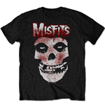 The Misfits Men's Tee: Blood Drip Skull
