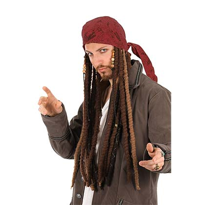 PIRATES OF THE CARIBBEAN Jack Sparrow Dreadlock Bandana