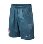 2017-2018 Atletico Madrid Third Nike Football Shorts (Blue)