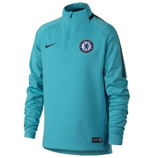 2017-2018 Chelsea Nike Drill Training Top (Omega Blue)