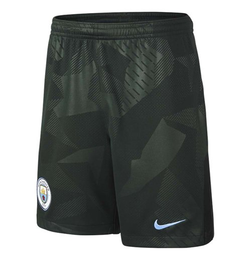 2017-2018 Man City Third Nike Football Shorts (Persian Green)
