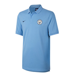 2017-2018 Man City Nike Matchup Core Polo Shirt (Field Blue)