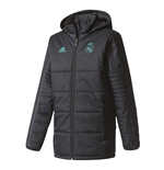 2017-2018 Real Madrid Adidas Padded Winter Jacket (Black) - Kids