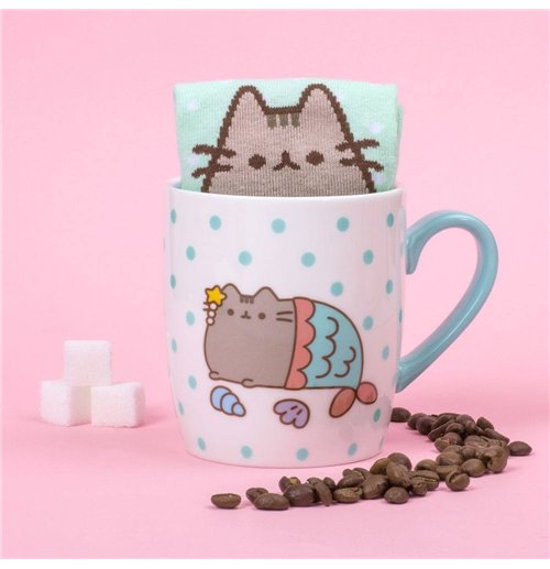 Pusheen Sock in a Mug Mermaid