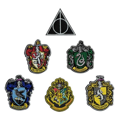 Harry Potter Patches 6-Pack House Crests
