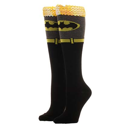 BATMAN Knee High Sequin Women's Socks