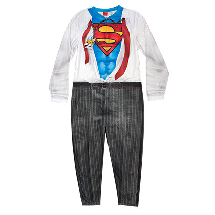 SUPERMAN Clark Kent Men's Pajama Union Suit