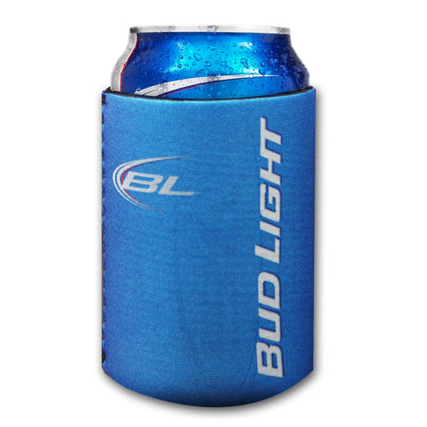 Official Bud Light Sublimation Blue Can Koozie Buy Online