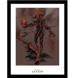 Skyrim - Flame Atronarch Framed Picture (30x40 Cm)