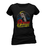 David Bowie - Smoking - Women Fitted T-shirt Black