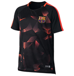2017-2018 Barcelona Nike Pre-Match Dry Training Shirt (Black) - Kids