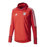 2017-2018 Bayern Munich Adidas Warm Up Top (Red)