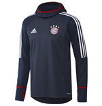 2017-2018 Bayern Munich Adidas Warm Up Top (Navy)