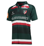 2017-2018 Leicester Tigers Home Rugby Shirt