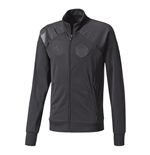 2017-2018 Man Utd Adidas Track Jacket (Black)