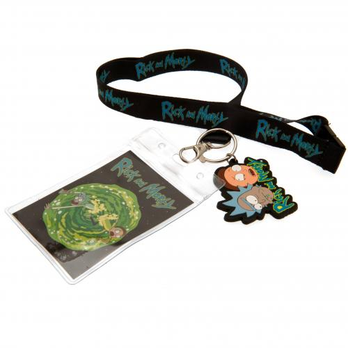 Rick And Morty Lanyard & Keyring Set
