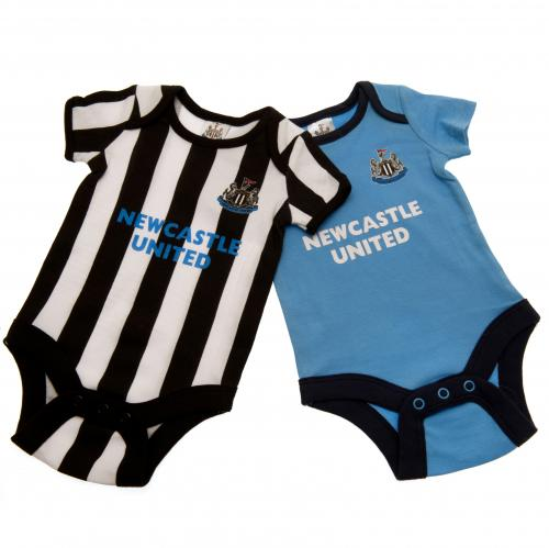 Newcastle United F.C. 2 Pack Bodysuit 9/12 mths ST